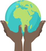 Hand Globe Icon
